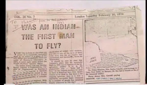 First Aeroplane is Invented by Shivkar Talpade