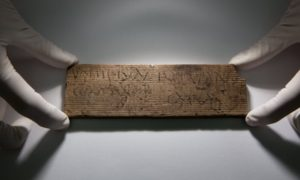 "A tablet dated AD 80-90/5, which translated reads: ""You will give [this] to Junius the cooper, opposite [the house of] Catullus""."