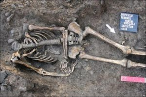 These decapitated remains found in York belonged to a male who may have been a Retiarii gladiator, who fought with a net and spear or trident.