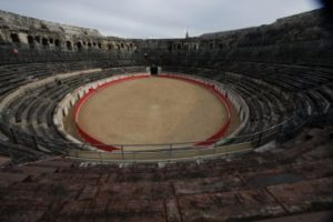 The skeletons were discovered in the town of Nimes, famed for its Roman amphitheatre - the Arena of Nimes