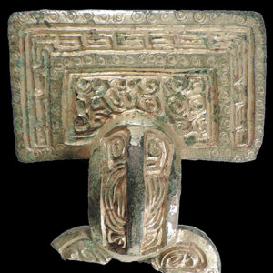 This is a brooch found at Anglo-Saxon cemetery unearthed by archaeologists.