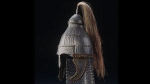 A Byzantine helmet that was found in grave 12.