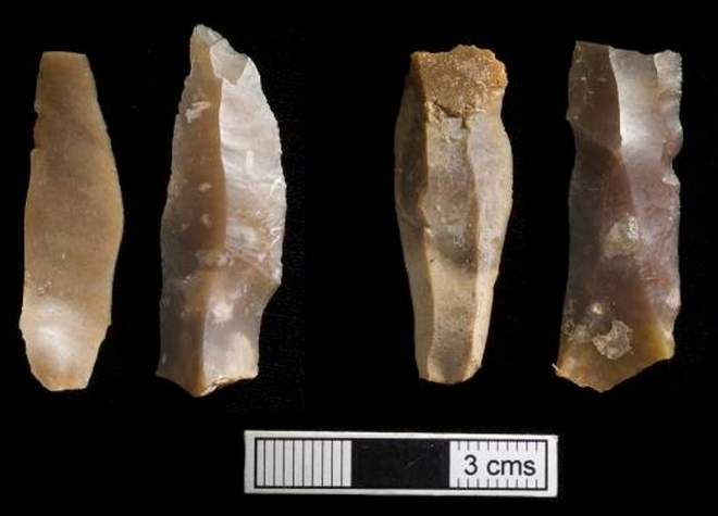 Iberomaurusian microlithic tools recovered from Taforalt cave