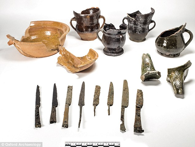 Medieval bloodletting bowls and beer mugs found in Oxford