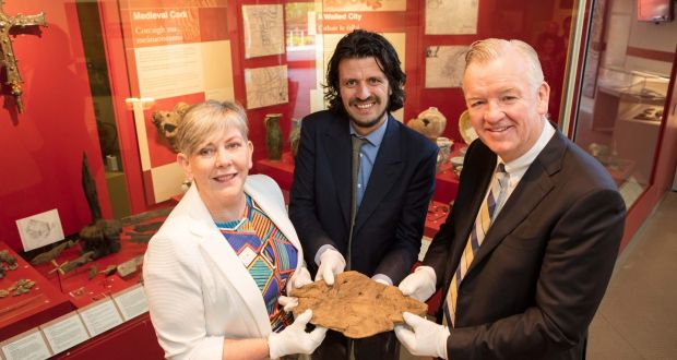 Cork City Council chief executive Ann Doherty, Cork Public Museum acting curator Daniel Breen