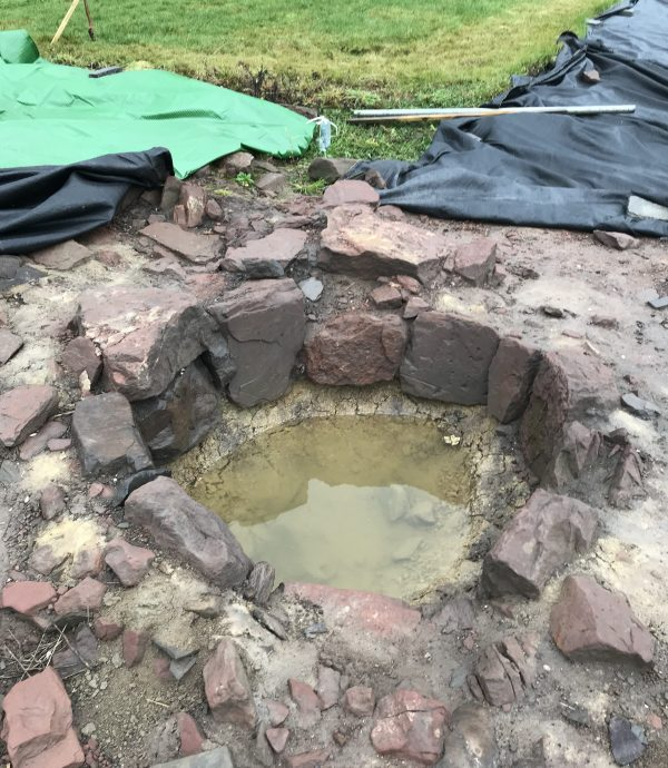 Archaeologists uncovered the structure at the site of Lindores Abbey in Fife, Scotland.