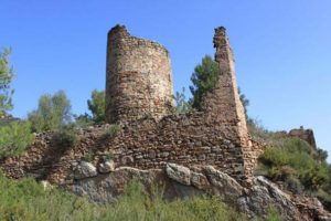 Ruins of the Aín castle where the Medieval sword was discovered.