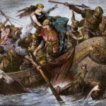 Vikings raid the English coastline in the 900s.