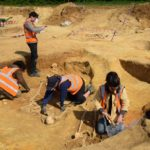 The 4th century cemetery was excavated by archaeologists in Great Whelnetham area of Suffolk, England.