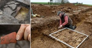 Metal detectorist discovers one of the biggest Roman villas ever found The 85m by 85m (278ft x 278ft) foundations date back to 99 AD and were discovered beneath a crop in a field near Broughton