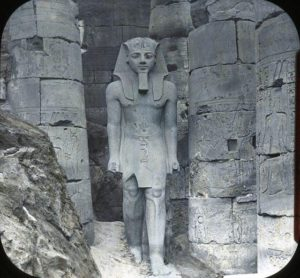 In Egypt, a statue of Ramses II