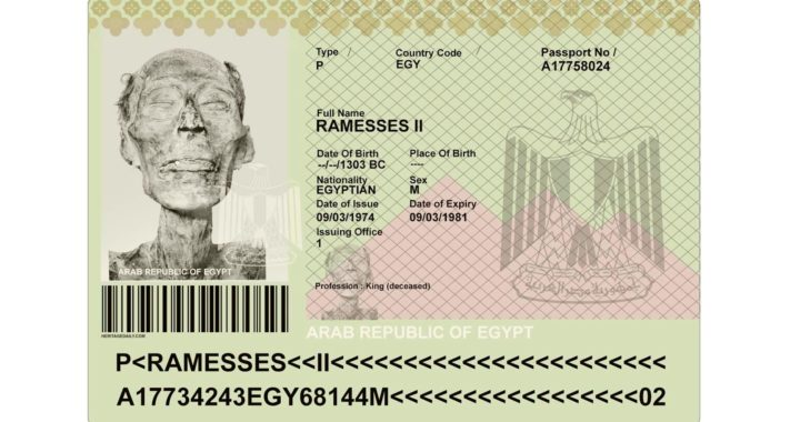 3,000-year-old Mummy of Pharaoh Ramesses II Issued a Passport to Travel to France for necessary repair