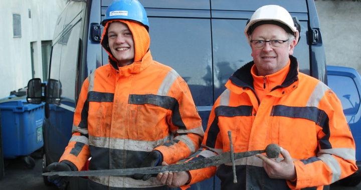 Archaeologist Found Medieval Sword on Danish City Street