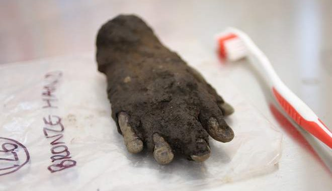 Bronze Hand Uncovered at Roman Fort
