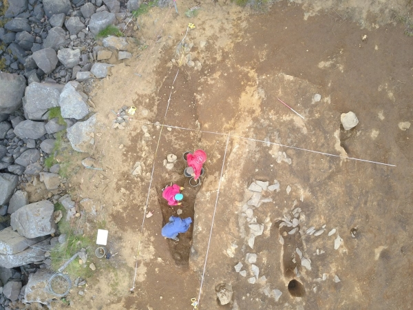 One of the boat burials [The proximity of the burial mound to the rocky coast is clear]