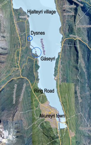 THE LOCATION OF DYSNES Gáseyri was an important trading post during the Viking age.