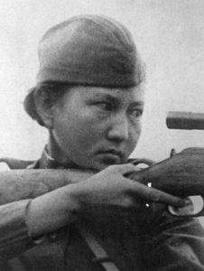 Aliya Moldagulova, sniper of the army, Hero of the Soviet Union.