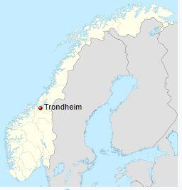 Trondheim is located in Norway