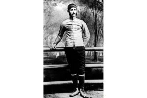 Walter Camp, pictured as an undergraduate at Yale. He is often considered to be the 'father of American football'.