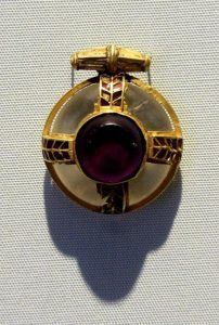 Anglo-Saxon Pendant from Stretham in the Cambridge University Museum of Archaeology and Anthropology.