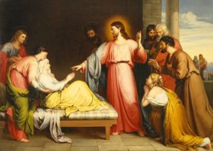 Christ Healing the Mother of Simon Peter's Wife by John Bridges.
