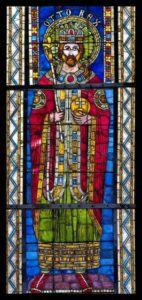 12th century stained glass depiction of Otto I, Strasbourg Cathedral