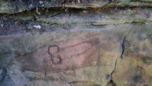 This phallic graffiti from A.D. 207 was discovered at a quarry near Hadrian's Wall by archaeologists from the University of Newcastle.