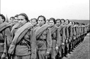 Soviet women during the war