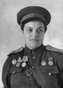 Lyudmila Pavlichenko, before she was awarded the title Hero of the Soviet Union in 1943.