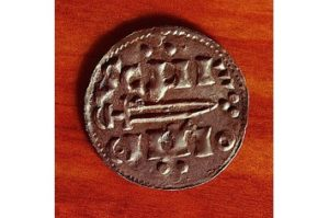 A silver penny minted in 10th-century Jorvik.