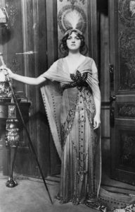 Gladys Cooper in fancy-dress costume