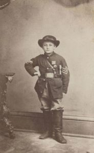 Child soldier John Clem, c. 1863.