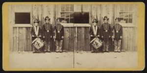 Three drummer boys in the Confederate army who took part in 9 battles.