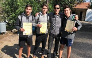 The Haemeq Hamaaravi high school pupils who found the unique 1,600-year-old Byzantine era gold coin in February 2019.