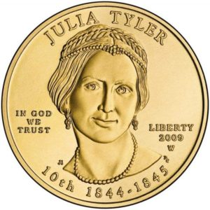 First Spouse Program gold coin for Julia Tyler.