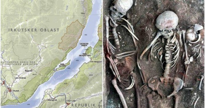 Two Ancient Lovers Skeletons holding hands unearthed at 3,500-year-old Siberian burial site