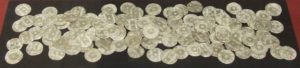 Silver coins from the find Photo Credit
