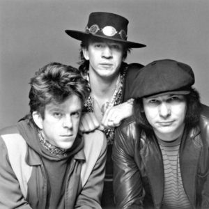 Double Trouble in 1983. From left to right Chris Layton, Stevie Ray Vaughan and Tommy Shannon