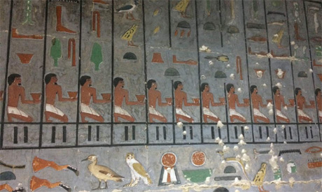 Retaining Detailed Reliefs, Fifth Dynasty Tomb and name of a new queen discovered at Saqqara