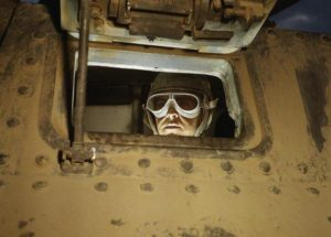 A tank driver at Fort Knox in 1942