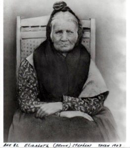 "Elizabeth ""Betsy"" Brown Stephens (1903), a Cherokee Indian who walked the Trail of Tears in 1838"