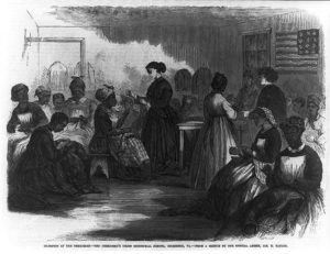 Northern teachers traveled through the South to provide education and training for the newly freed population
