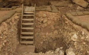 This file photo taken on December 29, 2010 shows the Qesem Cave excavation site, near Rosh Haayin in central Israel.