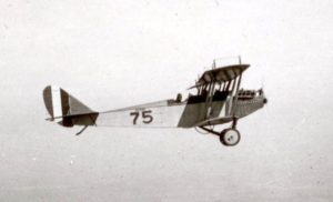 A Curtiss JN-4 (Jenny) during a WWI training flight.