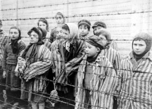 Still photograph from the Soviet Film of the liberation of Auschwitz