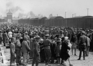 """""""Selection"""" of Hungarian Jews on the ramp at Auschwitz-II (Birkenau), May/June 1944"""