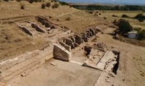 The ruins of the Ancient Thracian, Greek, and Roman city of Heraclea Sintica near today's Bulgarian town of Petrich.
