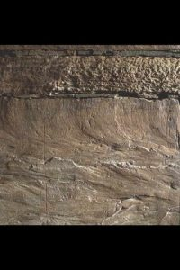 Detail of Viking runes inside Maeshowe.