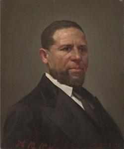 Oil portrait of Hiram Rhodes Revels (1822-1901)