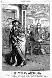 Illustration of Hiram Revels and Jefferson Davis